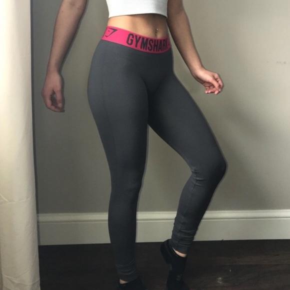 ebb008f9e0a97b Pants   Gymshark Fit Leggings Grey Cranberry   Poshmark